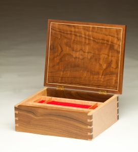 Floral Marquetry Jewelry Box - open